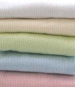 Top Seller! Cotton Waffle Weave Thermal Baby Receiving Blank