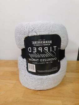"""Berkshire Blanket 60"""" x 80"""" Frosted Tipped Shearling Throw-B"""