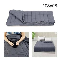 "60""x80"" Weighted Blanket Full Queen Size Reduce Stress Promo"