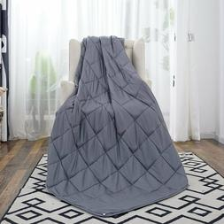 "60"" x80"" Weighted Blanket Full Queen Size Reduce Stress Prom"