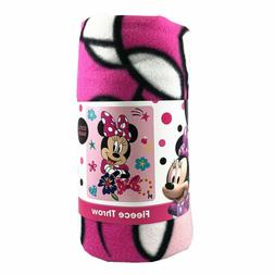 """Girls Minnie Mouse Unstoppable Fleece Throw Blanket 45""""x60"""""""
