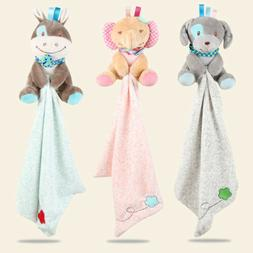 Baby Animal Friend Plush Security Blanket Soft Comfoter Toy