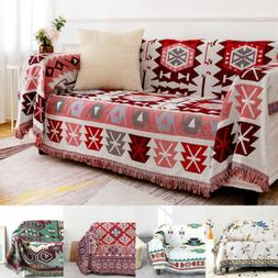 Fringed Throw Soft Blanket Wall Hanging Cotton Bedding Sofa