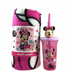 """Girls Minnie Mouse Unstoppable Fleece Throw Blanket 45""""x60""""w"""