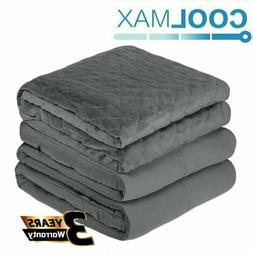 """Heavy Cool Weighted Blanket 48"""" x 72"""" 20lbs Full Size Promot"""