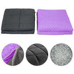 Weighted Blanket 15lbs With Duvet Cover Queen Size For Adult