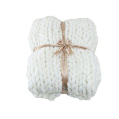 Large Warm Hand-Knitted Winter Chunky Sofa