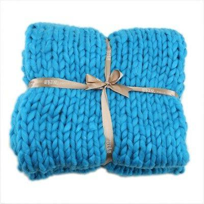 Large Wool Thick Winter Chunky Throw