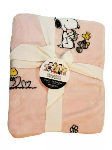 new peanuts snoopy throw easter soft velvet