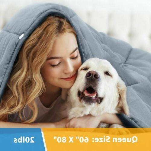 premium weighted blanket 60 x80 17lbs