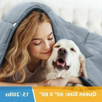 premium weighted blanket reduce stress promote deep