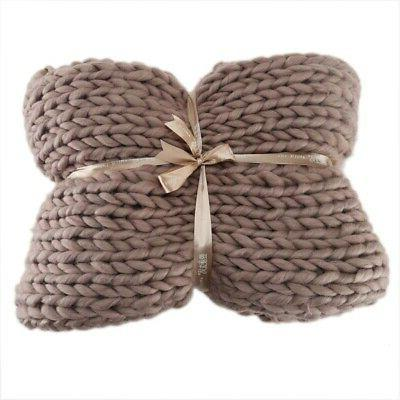 Large Wool Thick Line Winter Chunky