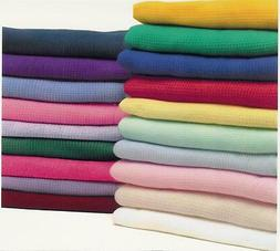 NEW Cotton Waffle Weave Thermal Receiving Baby Blankets Crib