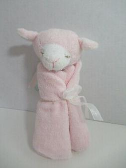 Angel Dear plush pink white lamb Baby Security Blanket Lovey