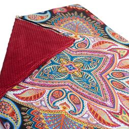 Premium Paisley Paradise Adult Weighted Blanket 20lb Removab