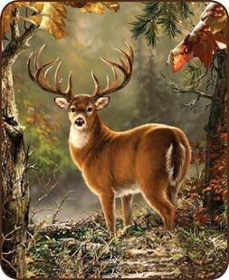 Regal Comfort Queen Size White Tail Deer Buck Woods Forest H