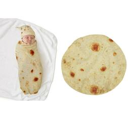 Soft Napping Tortilla Blanket & Hat Infant Baby Bedding Towe