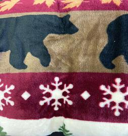 Soft Sherpa Plush Throw Blanket, Tall Pine Collection