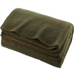 Twin Full Size Wool Bed Blanket Military Survival Emergency
