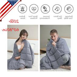US Home Weighted Blanket for Adults Reduce Anxiety Stress 60