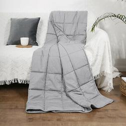 """60""""x80"""" Weighted Blanket 17lbs Full Queen Size Reduce Stress"""