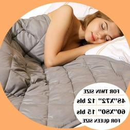 Weighted Blanket Reduce Stress Full Queen king Promote Deep