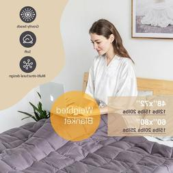 Weighted Blanket Reduce Stress Sensory Anxiety 12 15 lb 20 l